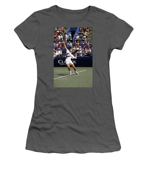 Tennis Serve Women's T-Shirt (Athletic Fit)