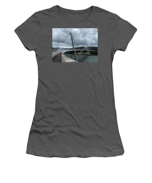 Terenez Bridge I Women's T-Shirt (Junior Cut) by Helen Northcott