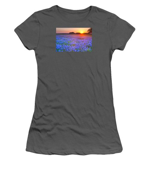Women's T-Shirt (Junior Cut) featuring the photograph Texas Bluebonnets by Keith Kapple