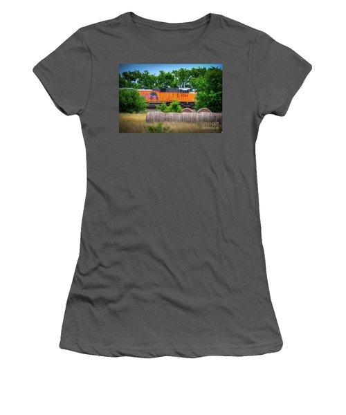 Texas Train Women's T-Shirt (Junior Cut) by Kelly Wade