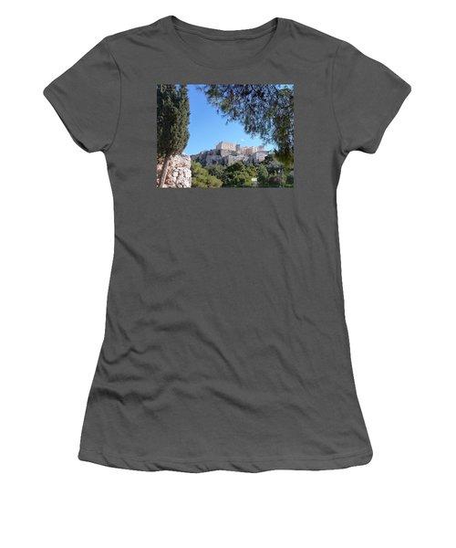 Women's T-Shirt (Junior Cut) featuring the photograph The Acropolis by Constance DRESCHER