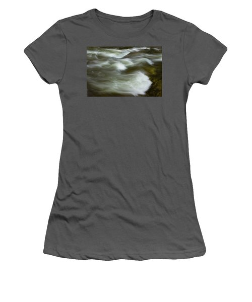 Women's T-Shirt (Junior Cut) featuring the photograph The Action On Top by Mike Eingle