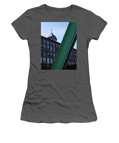 The Ayer Mill And Clock Tower Women's T-Shirt (Athletic Fit)