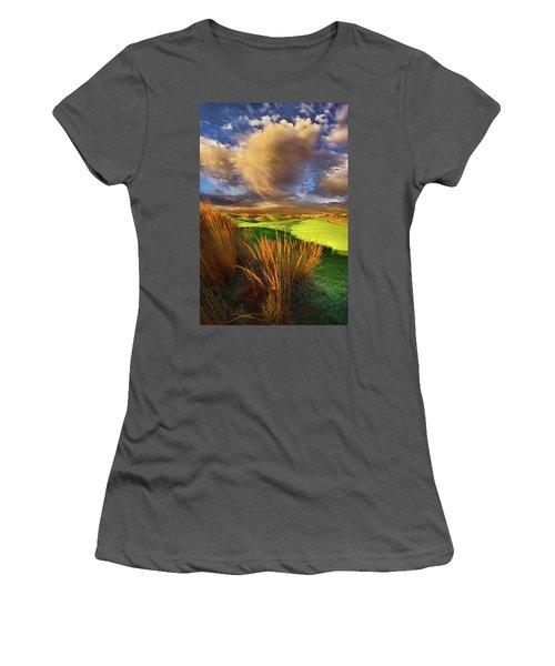 The Back Nine Women's T-Shirt (Junior Cut) by Phil Koch