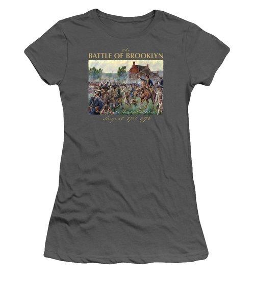 The Battle Of Brooklyn Women's T-Shirt (Junior Cut) by Mark Maritato