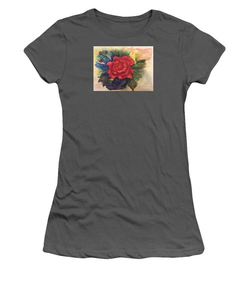 The Beauty Of A Rose Women's T-Shirt (Junior Cut) by Lucia Grilletto