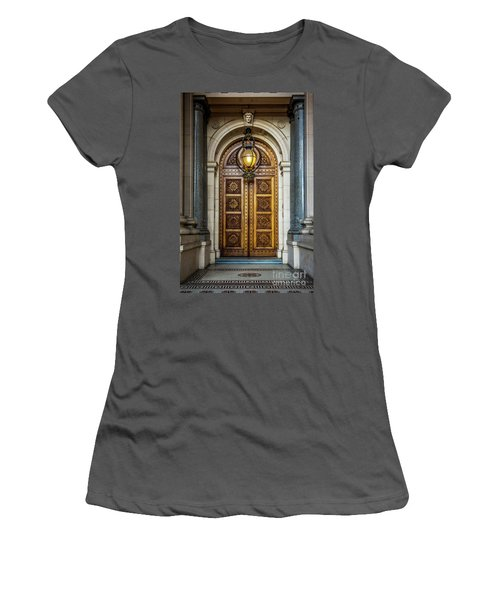 Women's T-Shirt (Junior Cut) featuring the photograph The Big Doors by Perry Webster