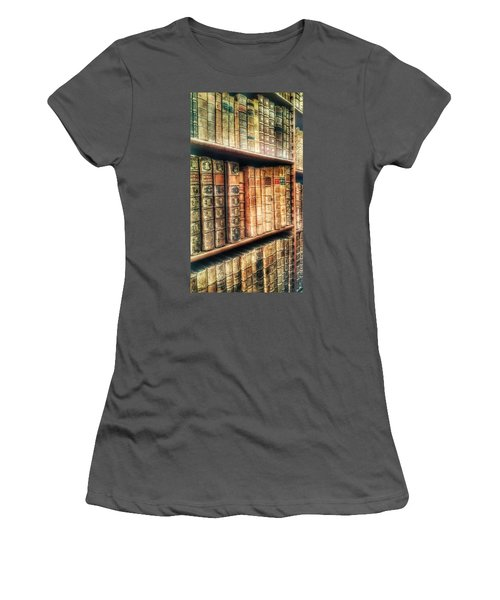 The Bookcase Women's T-Shirt (Junior Cut) by Isabella F Abbie Shores FRSA
