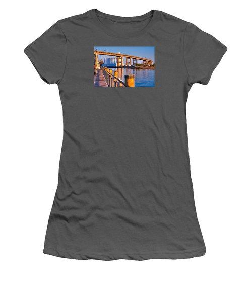 Women's T-Shirt (Junior Cut) featuring the photograph The Buffalo Skyway by Don Nieman