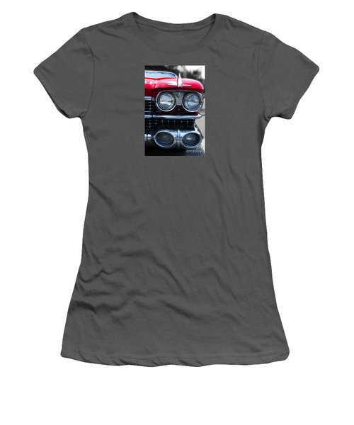 Women's T-Shirt (Junior Cut) featuring the photograph The Cadillac Way by Rebecca Davis