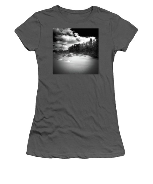 Women's T-Shirt (Junior Cut) featuring the photograph The Calm Of Winter by David Patterson