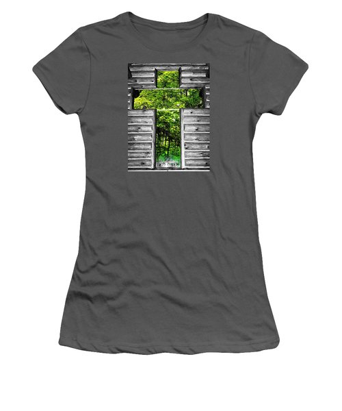 The Carpenters Cross Women's T-Shirt (Athletic Fit)