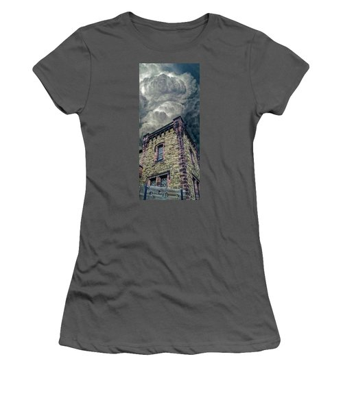 Women's T-Shirt (Junior Cut) featuring the photograph The Cell Block Restaurant by Greg Reed