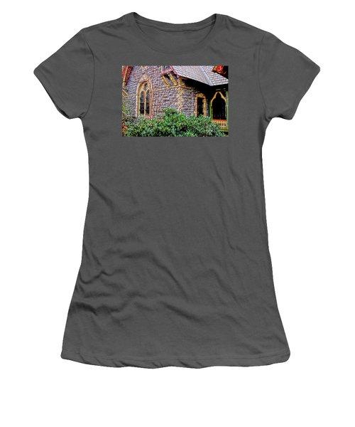 Central Park Dairy Cottage Women's T-Shirt (Junior Cut) by Sandy Moulder