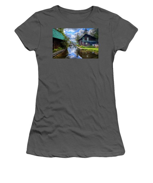 Women's T-Shirt (Athletic Fit) featuring the photograph The Channel At Palmer Point by David Patterson