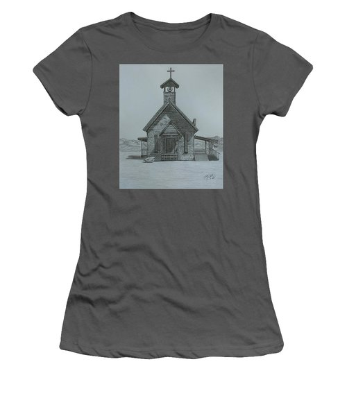 The Chapel  Women's T-Shirt (Junior Cut) by Tony Clark
