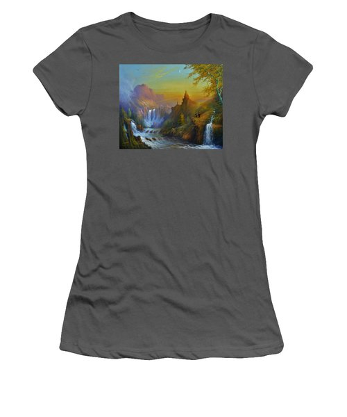 The Citadel Under The Moon Women's T-Shirt (Athletic Fit)