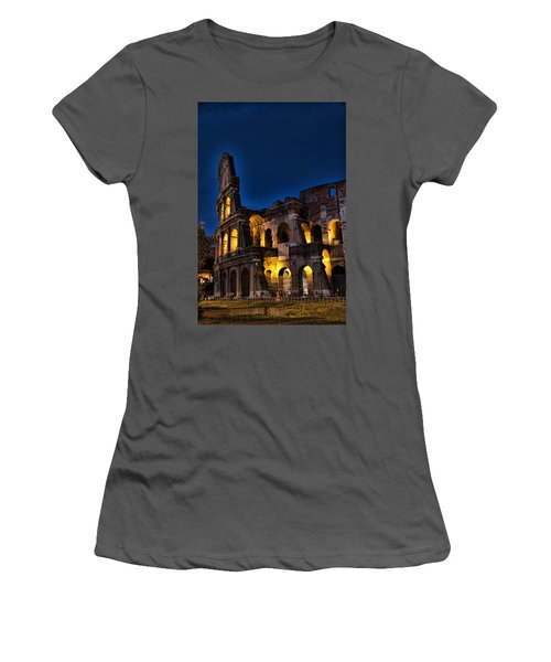 The Coleseum In Rome At Night Women's T-Shirt (Athletic Fit)