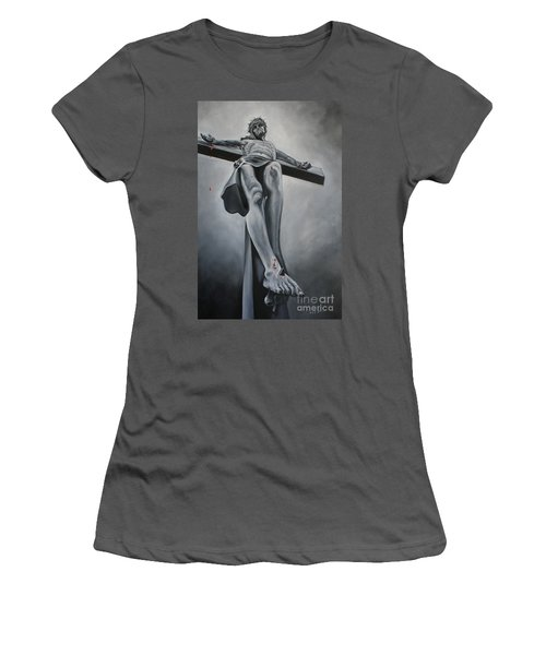 The Crucifixion Women's T-Shirt (Athletic Fit)