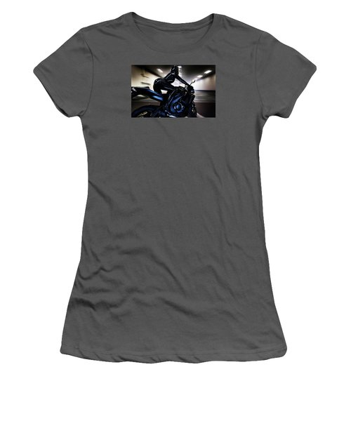 Women's T-Shirt (Junior Cut) featuring the photograph The Dark Knight by Lawrence Christopher