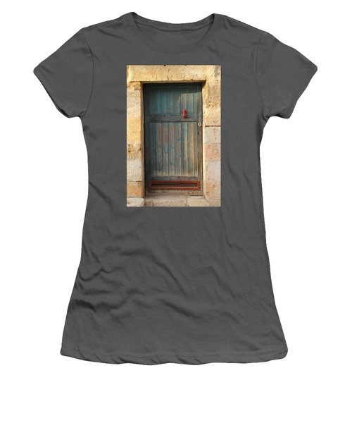 Women's T-Shirt (Junior Cut) featuring the photograph The Door And The Hand by Yoel Koskas
