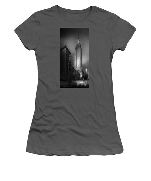 Women's T-Shirt (Junior Cut) featuring the photograph The Empire State Ch by Marvin Spates