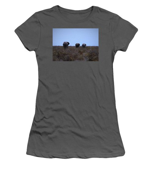 Women's T-Shirt (Junior Cut) featuring the digital art The End by Ernie Echols