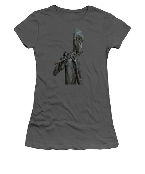 The Flute Player Women's T-Shirt (Athletic Fit)