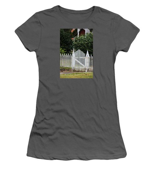 The Front Gate Women's T-Shirt (Junior Cut) by Lynn Jordan