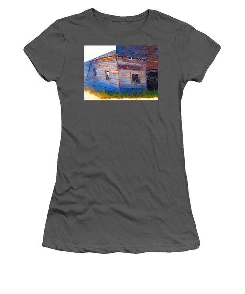 Women's T-Shirt (Junior Cut) featuring the photograph The Garage by Susan Kinney