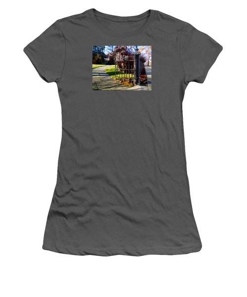 Women's T-Shirt (Junior Cut) featuring the photograph The Gate by Betsy Zimmerli