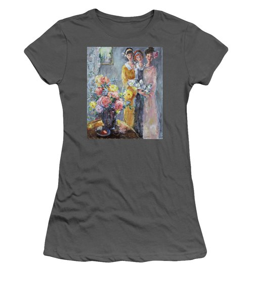 The Gathering Women's T-Shirt (Junior Cut) by Sharon Furner