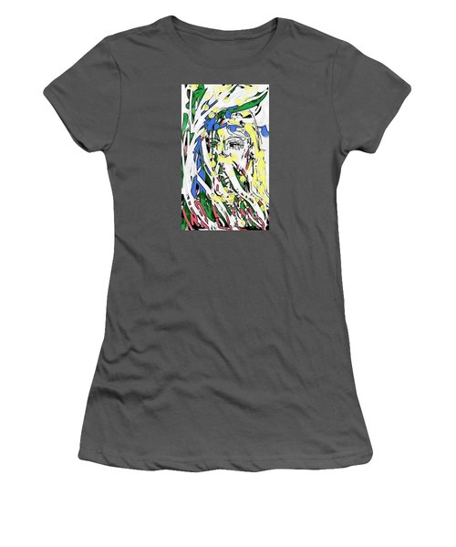 The Girl In Full Bloom Women's T-Shirt (Athletic Fit)