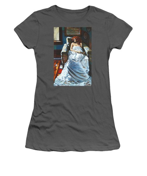 The Girl In The Chair Women's T-Shirt (Athletic Fit)
