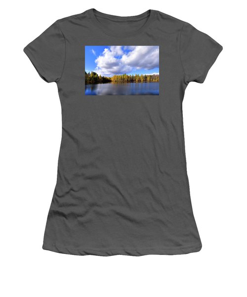 Women's T-Shirt (Junior Cut) featuring the photograph The Golden Forest At Woodcraft by David Patterson