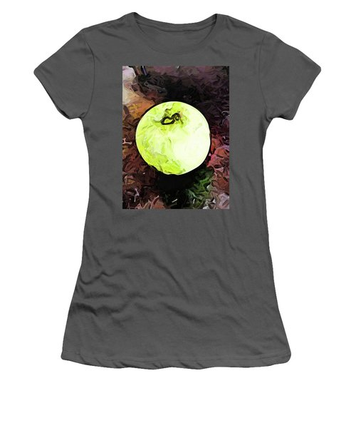 The Green Apple In The Bright Light Women's T-Shirt (Athletic Fit)