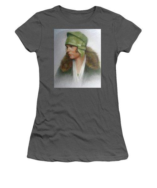 The Green Hat Women's T-Shirt (Junior Cut) by Janet McGrath