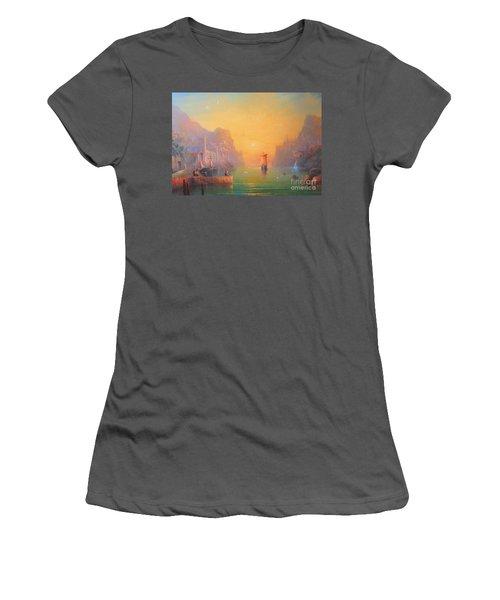 The Grey Havens. The Gulls Lament.  Oil On Canvas Women's T-Shirt (Junior Cut) by Joe  Gilronan