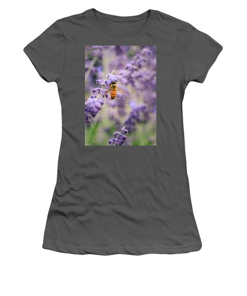 The Honey Bee And The Lavender Women's T-Shirt (Junior Cut)