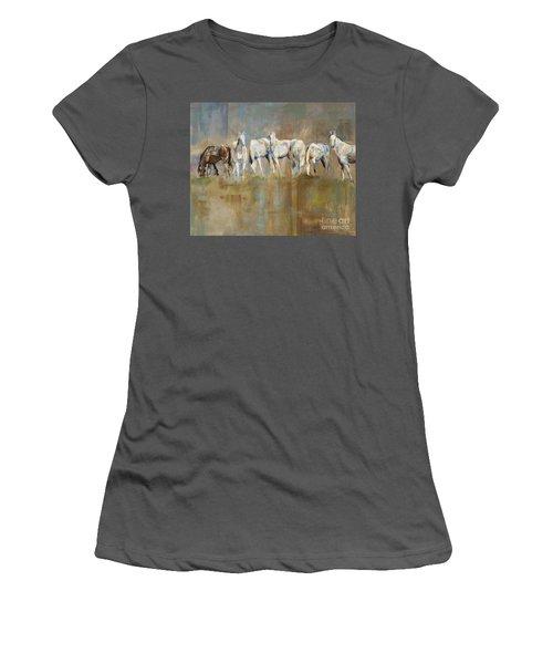 The Horizon Line Women's T-Shirt (Junior Cut) by Frances Marino