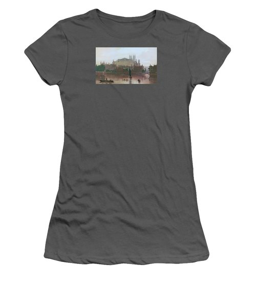 The Houses Of Parliament Women's T-Shirt (Junior Cut) by George Fennel Robson