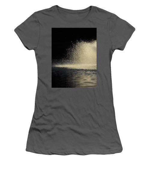 The Illusion Of Dark And Light With Water Women's T-Shirt (Athletic Fit)