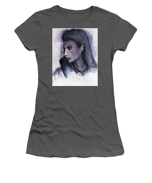 Women's T-Shirt (Athletic Fit) featuring the drawing The Islander by Jarko Aka Lui Grande