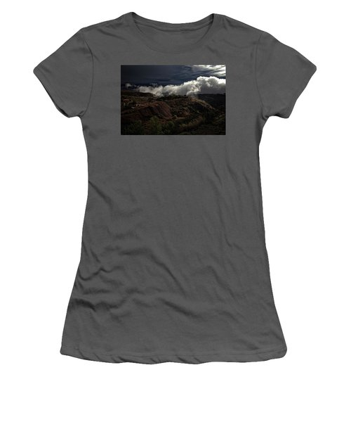 The Jerome State Park With Low Lying Clouds After Storm Women's T-Shirt (Junior Cut) by Ron Chilston