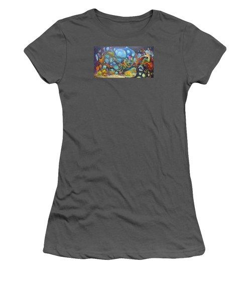 The Juggler Women's T-Shirt (Junior Cut) by Claudia Goodell