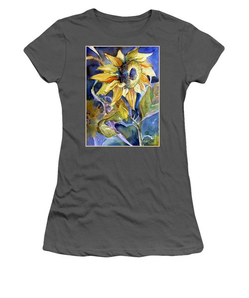 The Light Of Sunflowers Women's T-Shirt (Athletic Fit)