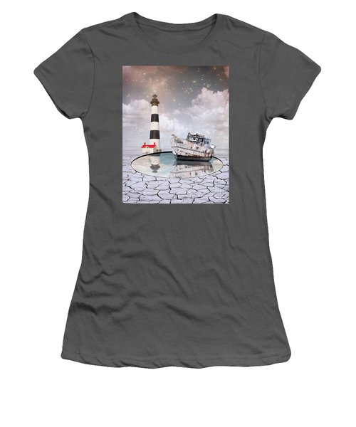 Women's T-Shirt (Junior Cut) featuring the photograph The Lighthouse by Juli Scalzi
