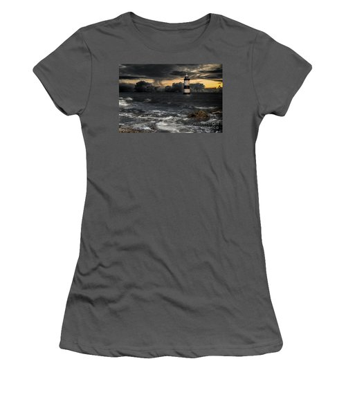 The Lighthouse Storm Women's T-Shirt (Athletic Fit)