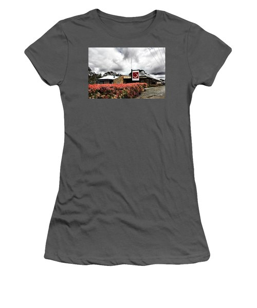The Little Red Grape Winery   Women's T-Shirt (Junior Cut) by Douglas Barnard