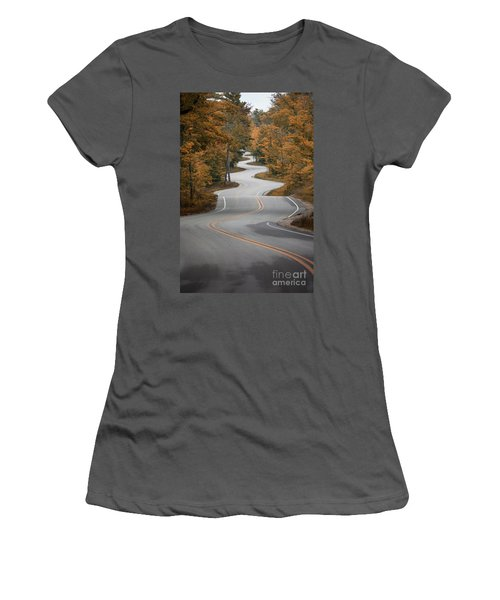 The Long Winding Road Women's T-Shirt (Athletic Fit)